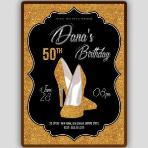 Sparkly Heels Birthday Invitation