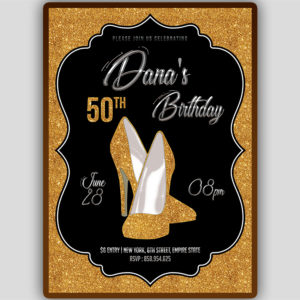 Sparkly Heels Birthday Invitation