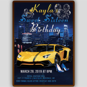 Cars Birthday Invitation Template