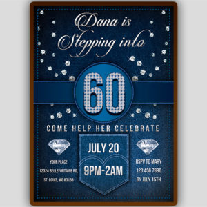 Denim and Diamonds Invitation Template