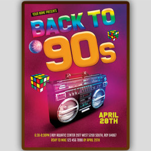 Back to 90s Flyer Template