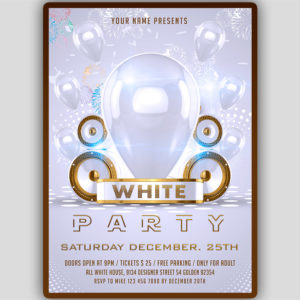 White Birthday Flyer Design
