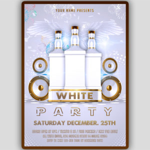 All White Flyer Template