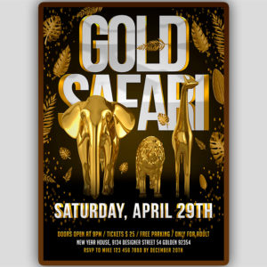 Gold Safari Flyer Template