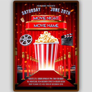 Movie Night Flyer Design