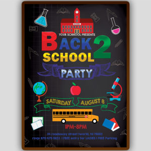 Back to School Invitation Template