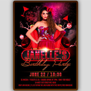 Red Birthday Flyer Template