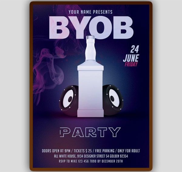 BYOB Party Flyer Template