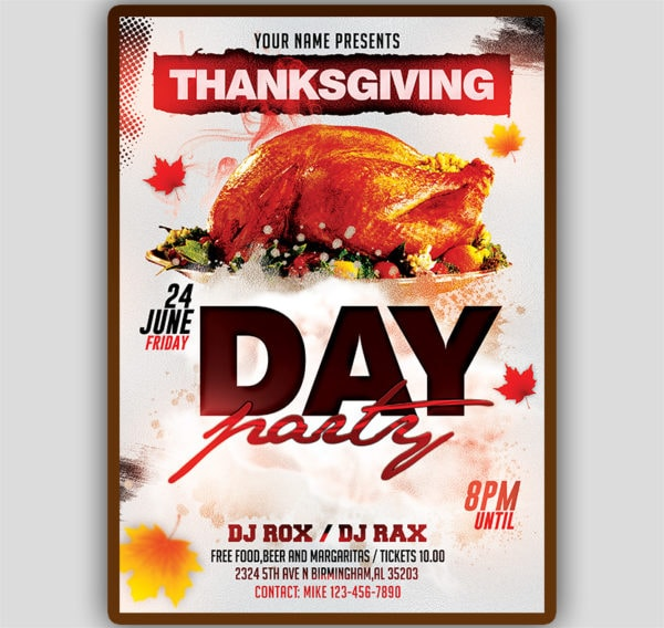 Thanksgiving Day Flyer Template