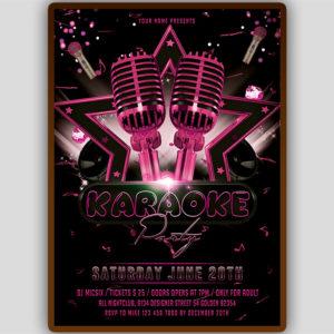 Girls Karaoke Flyer Template