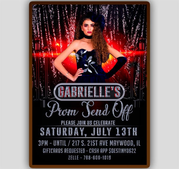 Prom Send Off Flyer Template