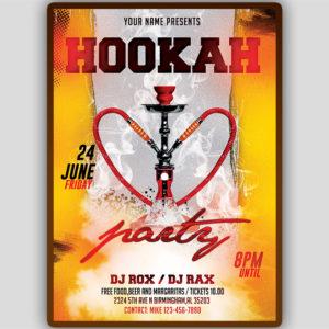 Hookah Flyer Template