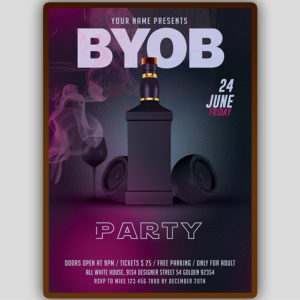 BYOB Flyer Template