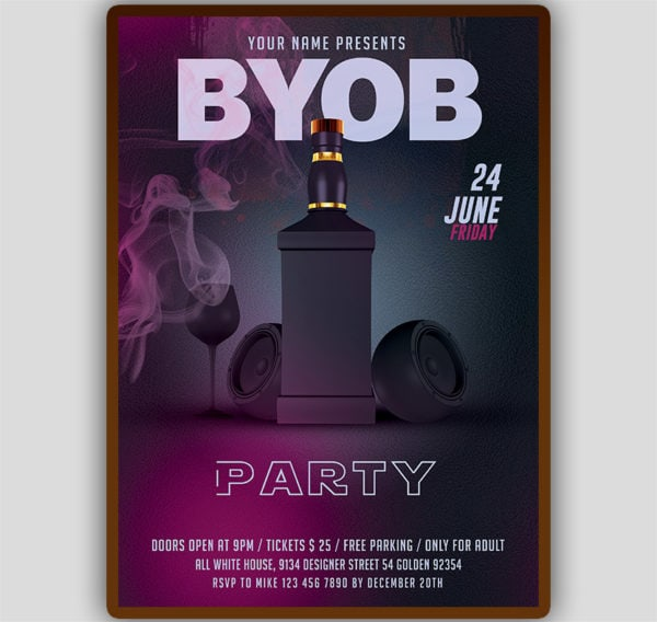 BYOB Flyer Template