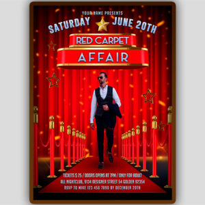 Red Carpet Affair Flyer