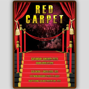 Red Carpet Invitation Template
