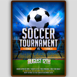 Soccer Tournament Flyer Template