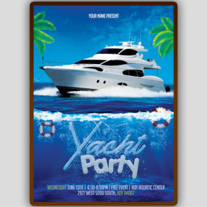 Yacht Party Flyer Template
