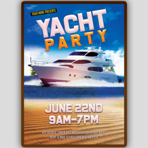 Yacht Flyer Template