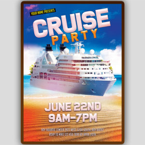 Cruise Party Flyer Template