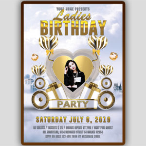VIP Ladies Birthday Flyer Template