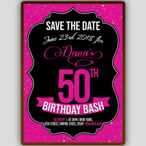 Pink Save the Date Invitation