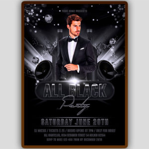 All Black Party Flyer Design