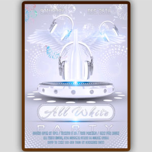 All White Party Flyer Design