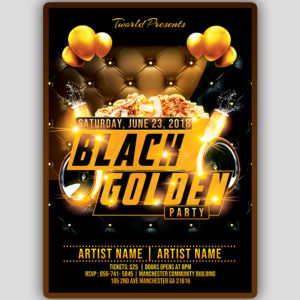 Black an Gold Party Flyer