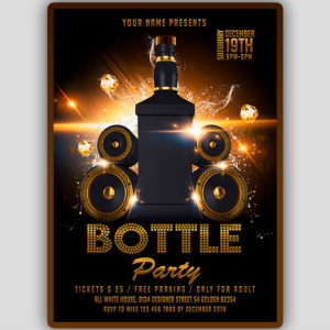 Bottles Party Flyer Template