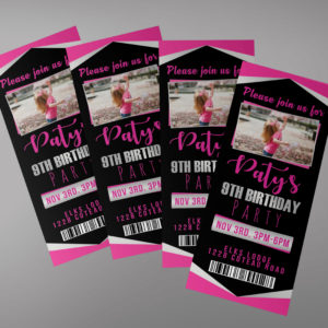 Birthday Ticket Invitation