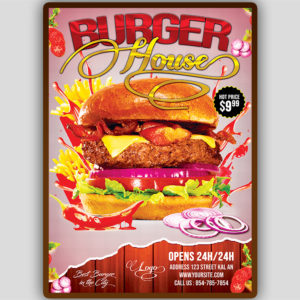 Burger Menu Flyer Template
