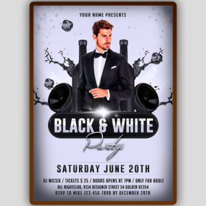 Black and White Party Flyer Design