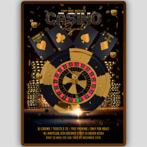 Casino Party Flyer Template