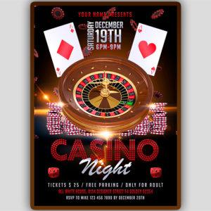 Casino Night Flyer Template