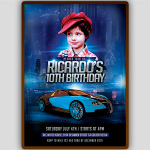 Car Birthday Invitation Template