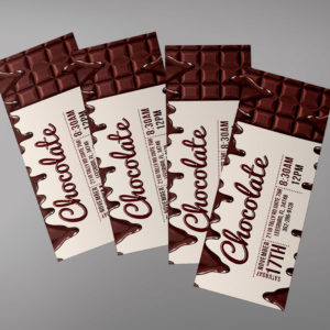 Chocolate Event Ticket Invitation