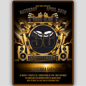Club Anniversary Flyer Template