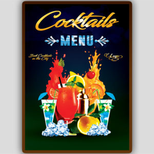 Cocktail Menu Flyer front