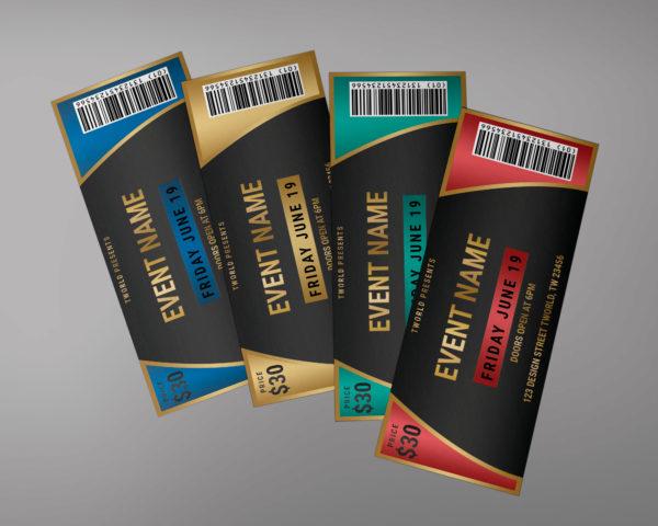Ticket Design Template