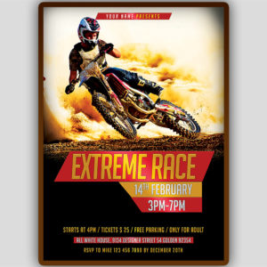 Extreme Race Flyer Template