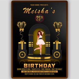 Birthday Party Flyer Design
