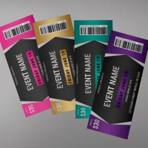 Editable Tickets Design