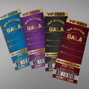 Gala Ticket Design