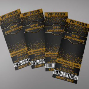 Black and Gold Ticket Design