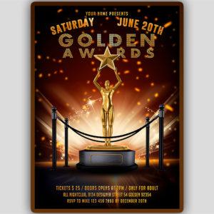 Golden Award Flyer Template
