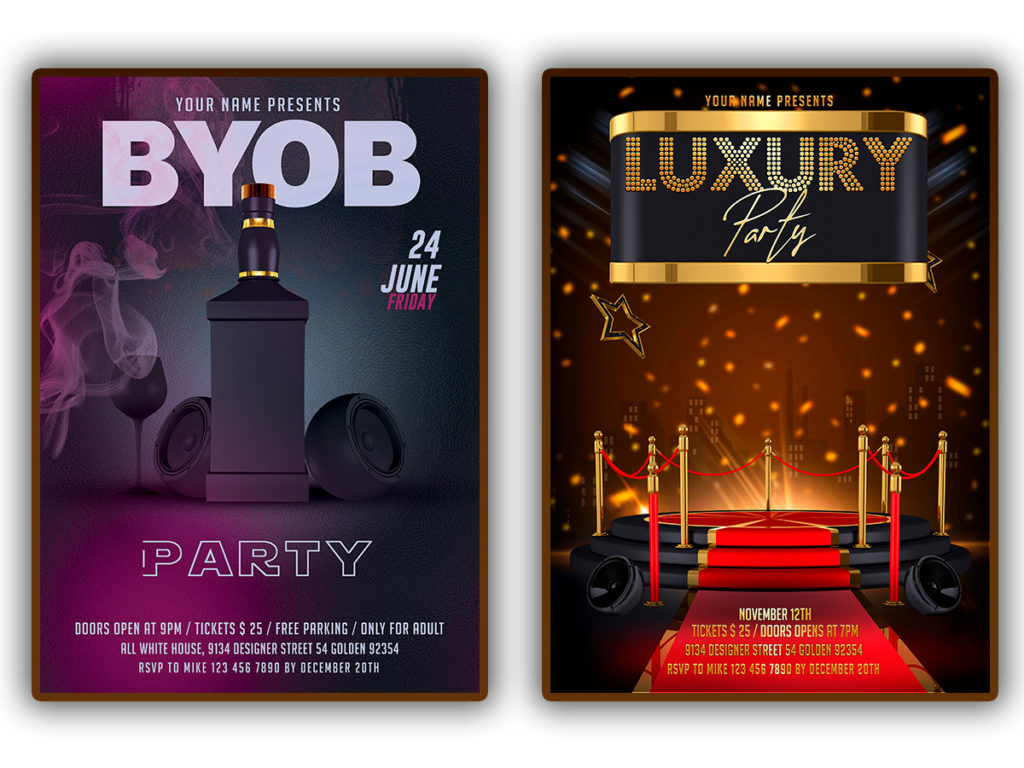 club event flyers