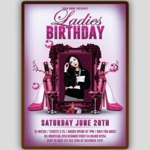 Ladies Birthday Flyer Design