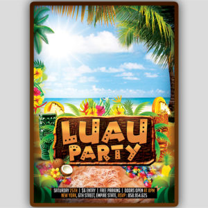 Luau Party Flyer Template