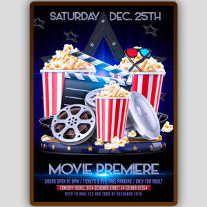 Movie Premiere Flyer Template